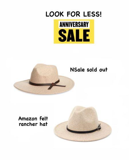 Nordstrom anniversary sale look for less Felt rancher hat Amazon find Fall hat   #LTKstyletip #LTKsalealert #LTKunder50