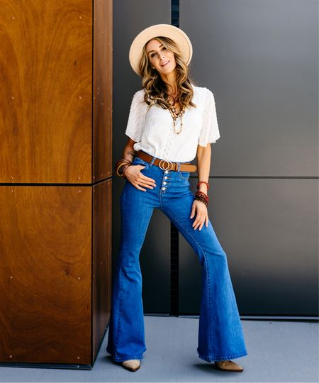 Boho vibes! I am obsessed with these bell bottom jeans.  They fit and feel amazing on!     http://liketk.it/3g6tf   @liketoknow.it   #LTKstyletip #LTKunder50 #LTKSeasonal #competition #liketkit