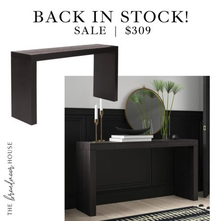 Console Table has sold out three times! But it's back in stock! It's very similar to mine in my entryway!  Entry Console, wood furniture, black Console,  #LTKhome #LTKsalealert #LTKstyletip