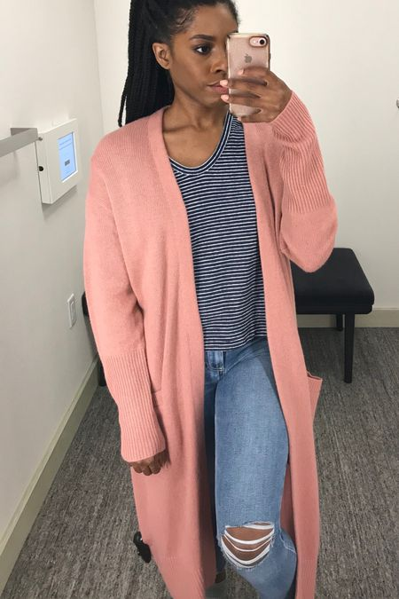 Pink oversized longline cardigan? Yes, please! This is on sale at Nordstrom during their N Sale, get this cozy piece before it sells out!    #StayHomeWithLTK #LTKsalealert #LTKunder100