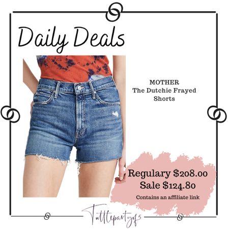 Mother denim shorts   http://liketk.it/3igY1 #liketkit @liketoknow.it #LTKsalealert #LTKstyletip