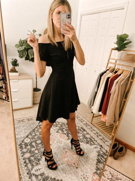 Off shoulder Cocktail Skater Dress Color: Black/TTS/size, S  #ifounditonamazon #amazonfashion #amazonfinds #outfitoftheday #ootd #outfitideas #outfitinspo #AmazonDress  #Amazonfalldress #amazonMidiDress   http://liketk.it/3pGiS @liketoknow.it #liketkit #LTKbeauty #LTKfit #LTKstyletip #LTKSeasonal