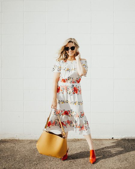 Flowy floral dresses for fall are my fave. This one is $25 right now and feels like it should be $200. My whole outfit is under $200. http://liketk.it/2xSmr @liketoknow.it #liketkit #LTKunder100 #LTKshoecrush
