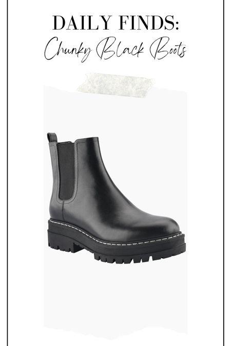 Chunky black boots, Marc fisher boots, black boots, fall boots, winter boots, classic boots   #LTKsalealert #LTKshoecrush #LTKunder100