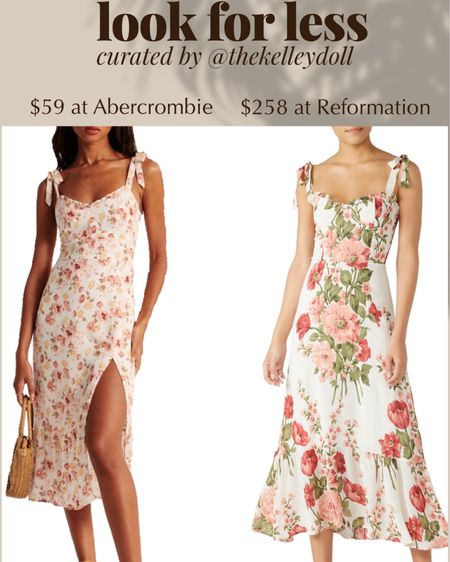 Get the look for less!   Reformation Nikita Dress $258 vs Floral Print Midi Dress from Abercrombie $59   http://liketk.it/2SPef @liketoknow.it #liketkit #LTKDay #LTKspring #LTKstyletip