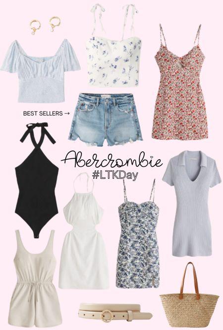 Abercrombie LTK Day sale preview. SAVE your favorite items today and SHOP tomorrow 6/11 through 6/14. Summer style, mom shorts, floral top, romper, summer dress, bodysuit, straw beach bag, earrings. http://liketk.it/3hg8v @liketoknow.it #liketkit #LTKDay #LTKsalealert #LTKunder100 #LTKunder50