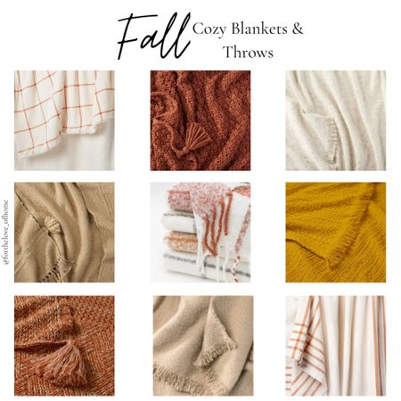 Cozy blankets and throws for Fall! #targetstyle #target #cozy #fall #blankets  #LTKSeasonal #LTKhome #LTKstyletip