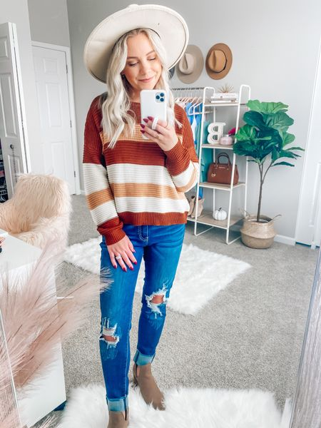 BLONDEBELLE for 20% off anything from Pink Lily 🍁 . . . Pink Lily boutique, fall, fall outfits, fall sweater, hat, thanksgiving outfit    #LTKstyletip #LTKunder50 #LTKSeasonal