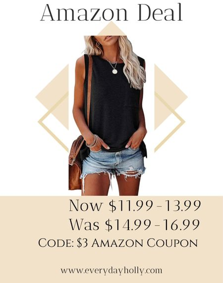 Amazon Summer tank •  Several colors • amazing reviews   •summer style • summer outfit • summer fashion • amazon fashion • easy outfit • comfy style • casual • everyday outfit• outfit ideas • mom style • petite  • affordable outfit   #LTKunder50 #LTKsalealert #LTKstyletip
