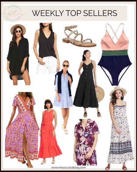 This week's top sellers.  Maxi dresses Summer dresses Sandals  Amazon swimsuits and cover ups  http://liketk.it/3fYfN #liketkit @liketoknow.it #LTKunder50 #LTKsalealert #LTKtravel