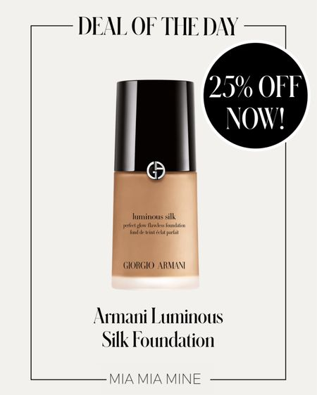 Armani Beauty Luminous Silk Foundation on sale! Take 25% off with code LTKGLOW + free shipping!   #LTKbeauty #LTKDay #LTKsalealert