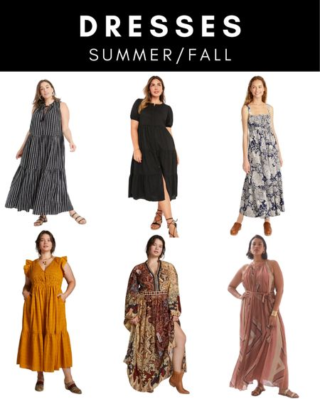 Pretty dresses to transition from summer to fall.   #LTKstyletip