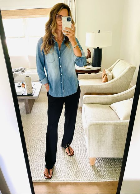 NSale, Nordstrom anniversary, cozy lounge pants that are so flattering! Sz S Denim button up, I've been wanting forever!!! Linked on the NSale and not on sale Sz XS  #LTKunder50 #LTKstyletip #LTKsalealert