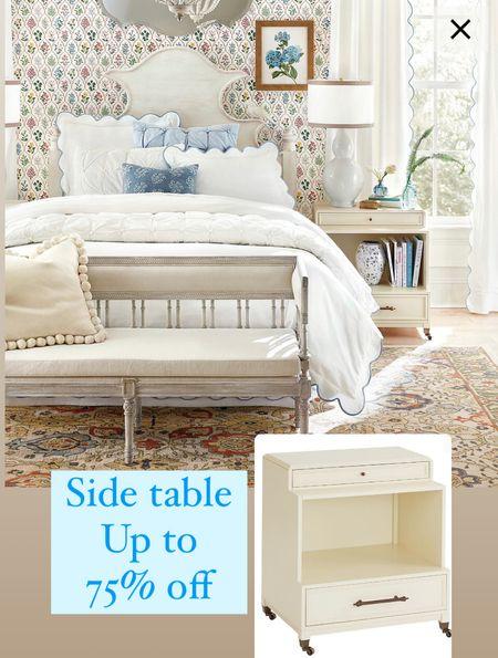 Bedroom furniture up to 75% off side table sale rugs lamps  #LTKsalealert #LTKhome #LTKunder100