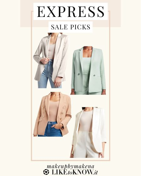#liketkit http://liketk.it/3cuJS @liketoknow.it #LTKSpringSale #LTKworkwear #LTKwedding These Express blazers are perfect for spring and summer. This weekend, save money on your purchase during the LTK Spring Sale!