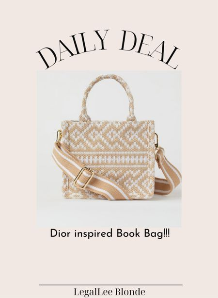 $25 dior inspired book bag!! This is so good! - designer inspired - small handbag - tote bag - fall handbag