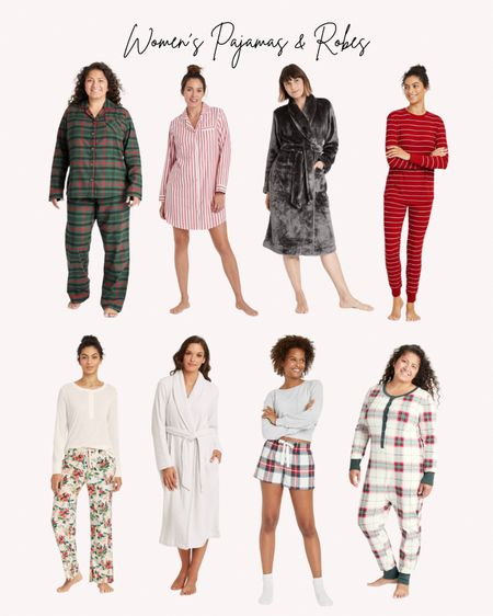 Women's pajamas and robes, Target, holiday pajama sets, Christmas pjs, plaid  Follow me for more ideas and sales.   Double tap this post to save it for later    #LTKunder50 #LTKGiftGuide #LTKHoliday