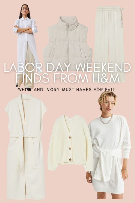 Here are the must-have white and ivory pieces from the H&M Labor Day weekend sale!