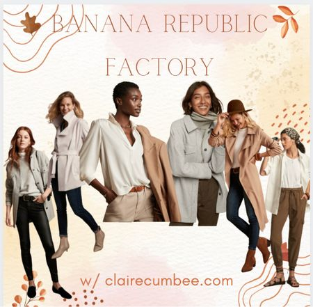 Banana republic work style Fall work outfi Trench coat Shacket Beige Work pants  Preppy style Prep Safari British   Follow my shop @clairecumbee on the @shop.LTK app to shop this post and get my exclusive app-only content!  #liketkit #LTKaustralia #LTKunder100 #LTKworkwear @shop.ltk http://liketk.it/3p878