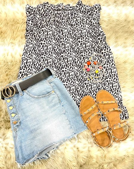 So perfect for the beautiful summer days!!!!  I've been wearing these denim shorts from Target on repeat!  #LTKstyletip #LTKsalealert #LTKunder50