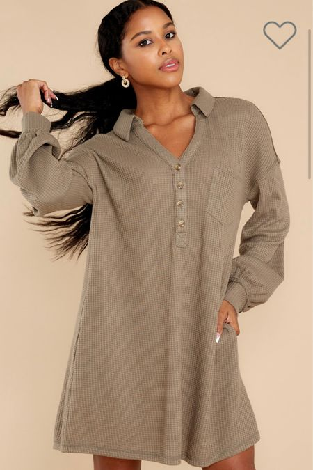 The cutest thermal casual and comfy dress!