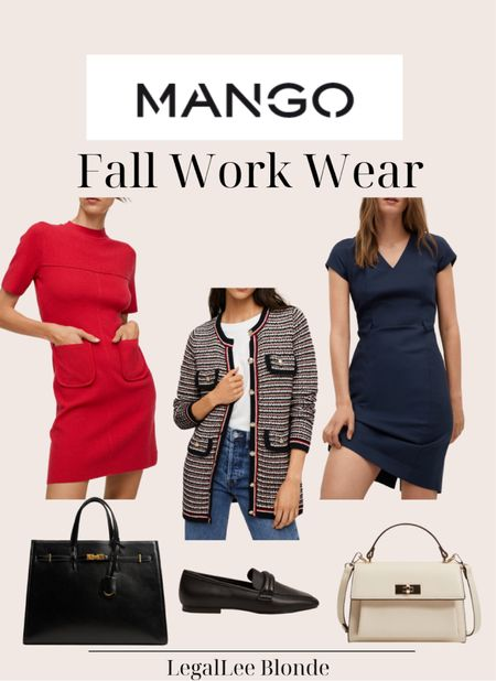 Fall work wear! These fall looks would be great for a day in the office! - work dresses - wear to work - sheath dress - women's cardigan - office outfit - business casual - professional outfit - pockets knit dress - red dress - button knit cardigan - pebbled shopper bag   #LTKstyletip #LTKunder100 #LTKworkwear