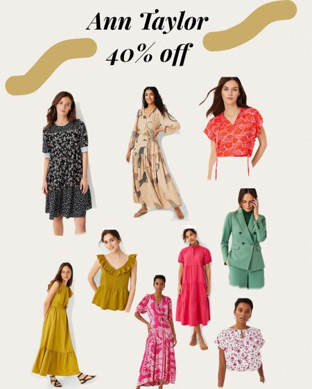 http://liketk.it/3gwYd #liketkit @liketoknow.it #LTKsalealert #LTKstyletip #LTKworkwear Anna Taylor 40% off sale, Ann Taylor Memorial Day sale, dresses on sale