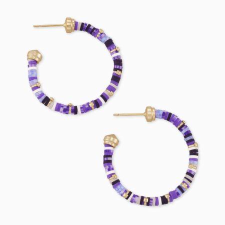 Sale alert! 🚨 Reece Gold Small Hoop Earrings In Purple Mix by Kendra Scott!   http://liketk.it/3k13D @liketoknow.it #liketkit #LTKsalealert #LTKunder50 #LTKstyletip