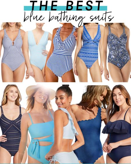 On the search for bathing suits? These are the best blue swimsuits for spring and summer! http://liketk.it/3aT44 #liketkit @liketoknow.it #LTKsalealert #LTKcurves #LTKswim