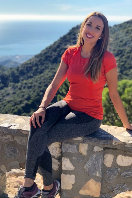 I found the best hiking sports outfit for you! Gray leggings, orange dry fit t-shirt, fit bit watch and hiking boots. Gym clothes for a day out in the nature.  Fall mountain clothing to stay fit and healthy.  I loved the fresh air and amazing views.  Orange is the new black!  Enjoy making fall season outfits.  .....  Follow me on the LIKEtoKNOW.it shopping app to get the product details for this look and others   http://liketk.it/2XlqI   @liketoknow.it.europe @liketoknow.it  .....  #liketkit #LTKfit #LTKtravel #LTKeurope