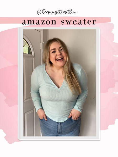 Amazon henley. Runs small. Wearing xxl    #LTKunder50 #LTKSeasonal #LTKcurves