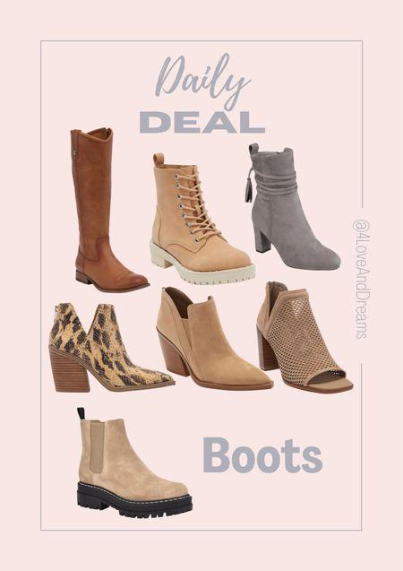 Boots. Booties. Combat boots.   #LTKsalealert #LTKSeasonal #LTKshoecrush