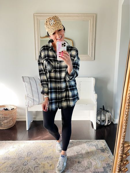 The perfect oversized flannel from Nordstrom for under $50! Use code ASHDONIELLE to get 20% off the hat!
