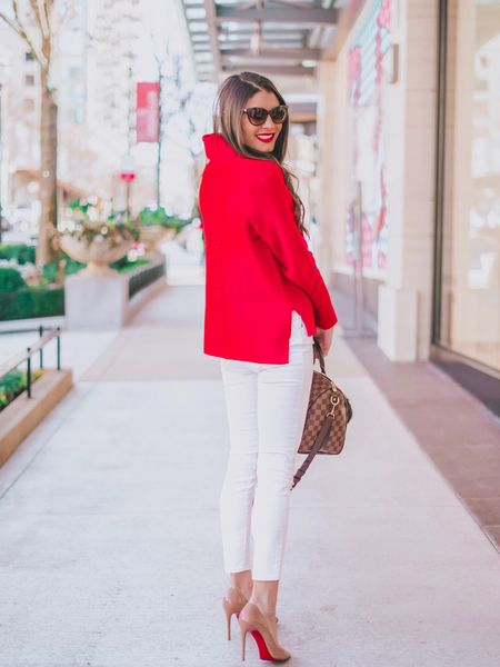 Looking back on the weekend like - where'd ya go? 🤷🏻♀️ One thing about it being Monday is we are one day closer to Valentine's Day 🥰 This red and white combo is a perfect wear to work option that can take you from the office to dinner if you're a boss babe or a gal on the go! 👩🏻💼 You can instantly shop all of my looks by following me on the LIKEtoKNOW.it app or by going to http://liketk.it/2zIMS  @liketoknow.it #liketkit #LTKunder50 #LTKstyletip #LTKshoecrush #LTKitbag