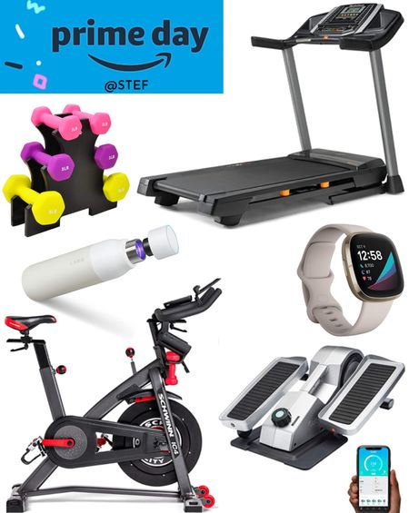 Amazon Prime Day Fitness finds! Build your home gym or just pick up accessories!   Treadmill stationary bike cycling running walking jogging water bottle elliptical desk elliptical weights hand weights workout gear exercise equipment weight lifting  #LTKsalealert #LTKfit #LTKhome
