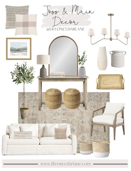 Joss & Main Home Decor - so many neutral pieces to choose from!! Refresh your space today with these pretty finds!   #LTKstyletip #LTKhome #LTKsalealert