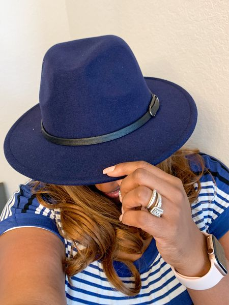 Purchased quite a few new hats for Fall. This blue one is becoming one of my favorite ones. #Hats #Fedora #FallFashion #WomensFashion #Stylish #OOTD   #LTKSeasonal #LTKunder100