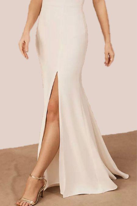 maxi dress, wedding guest dress, white dresses, wedding outfits, evening gown, formal dress, classy, anthropologie http://liketk.it/3hZli @liketoknow.it #liketkit   #LTKstyletip #LTKwedding #LTKunder100
