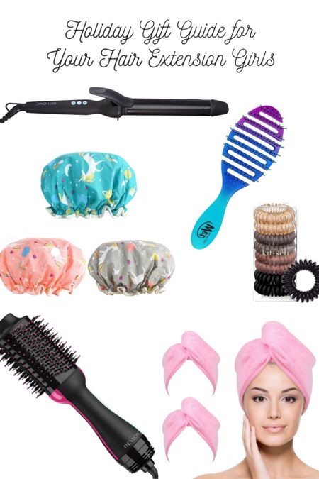 Hair Extension gift guide!! Just some goodies for your loved ones who rock hair extensions! One of the highlights, the Bio Ionic 1.25 inch LONG BARREL curling iron!   Follow me on the LIKEtoKNOW.it shopping app to get the product details for this look and others!   http://liketk.it/30qJS #liketkit @liketoknow.it #StayHomeWithLTK #LTKunder100 #LTKbeauty