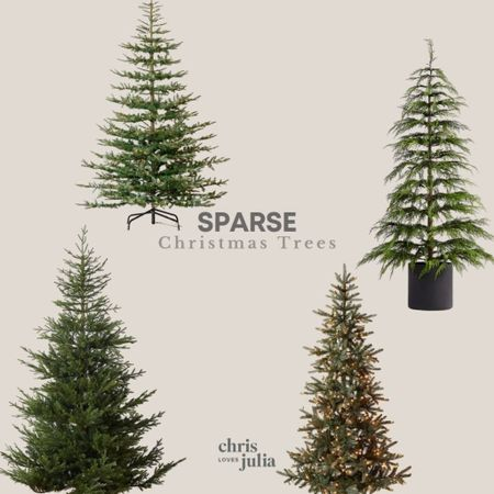 Favorite Sparse Faux Christmas Trees   #LTKhome #LTKHoliday