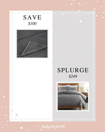 The save item has a 20% off coupon to clip, bringing the price to $100 for size King!   Pick-stitch coverlet, quilt, bedroom inspiration, Amazon finds, look for less, Pottery Barn, bedding  #LTKhome