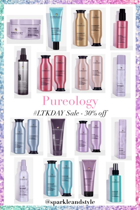 LTK Day Sale: Pureology - 30% off    http://liketk.it/3hqBq @liketoknow.it #liketkit #LTKDay #LTKbeauty #LTKsalealert   Haircare, hair car products, hair styling products, shampoo and conditioner, hair sprays, hair treatments, hair mask, leave in treatments, smoothing serum, sugar hair spray, texture hair paste, leave in split end treatment