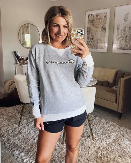Walmart find of the day! This champion sweatshirt is awesome- love the two tone. Comes in other colors too! On sale Under $40 http://liketk.it/2Vero @liketoknow.it #liketkit #LTKfit #LTKsalealert #LTKunder50