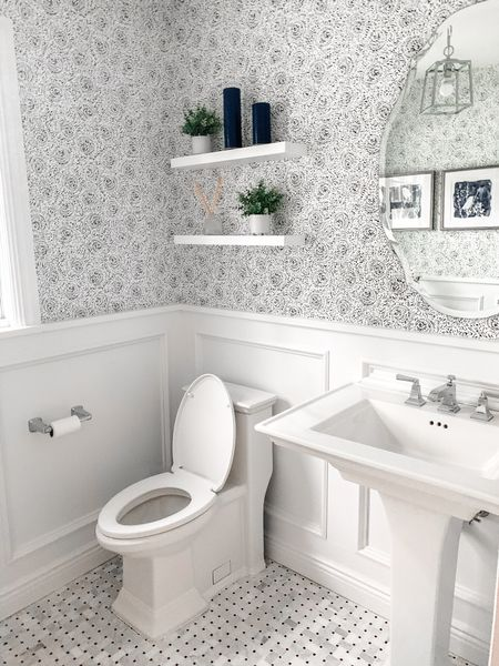 Finished product of the powder room I recently did for my lovely clients! I'm obsessed with this wallpaper 🙌🏼 @liketoknow.it #liketkit http://liketk.it/3gDdA