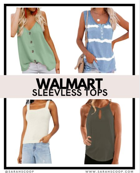 Check out these causal sleeveless tops from Walmart for under $20 🤑  #walmart #affordable #clothes #fashion #tops #style #tanktops #tanks #colorful #summer #walmartaffordable #green #blue #white #styletips #buttons  #LTKstyletip #LTKSeasonal #LTKunder50