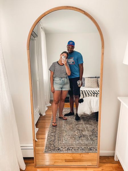 First selfie in our new floor mirror! Love how tall and wide this one is for the price   #LTKhome