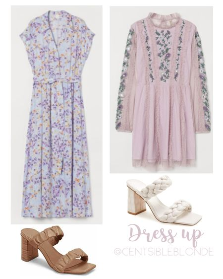 Spring dresses from H&M, block heels, heeled sandals, spring sandals, floral dress, affordable dresses.   http://liketk.it/3hwdU #liketkit @liketoknow.it #LTKshoecrush #LTKstyletip #LTKunder100