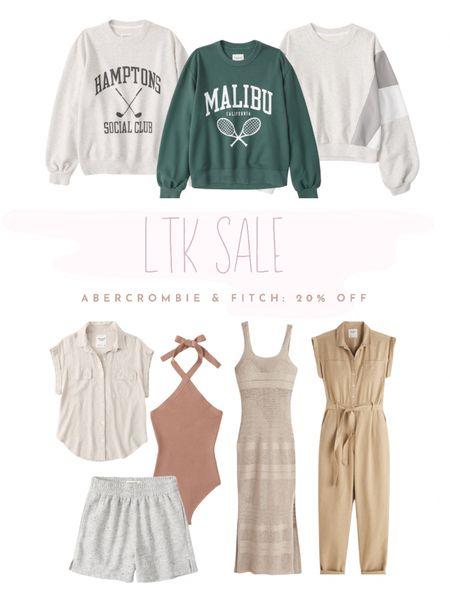 LTK sale on Abercrombie & Fitch: 20% off with code LTKAF2021 beach outfits, comfy crew, shorts, tops http://liketk.it/3hkM5 #liketkit @liketoknow.it #LTKDay #LTKsalealert #LTKstyletip