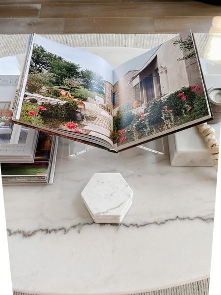 Book stand to decorate our home and display our coffee table books. Love this acrylic one and also linking a black x book stand.  I love this as coffee table decor with our marble coasters and other decorative accents.   #LTKhome #LTKstyletip