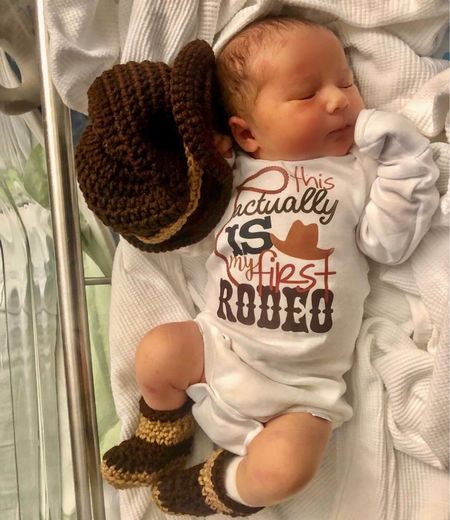 Actually this is my 1st rodeo  Baby onesie  Cowboy hat Cowboy boots   #LTKunder50 #LTKbaby #LTKfamily
